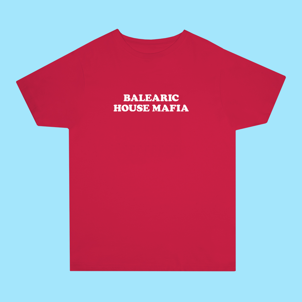 Balearic House Mafia Red Tee