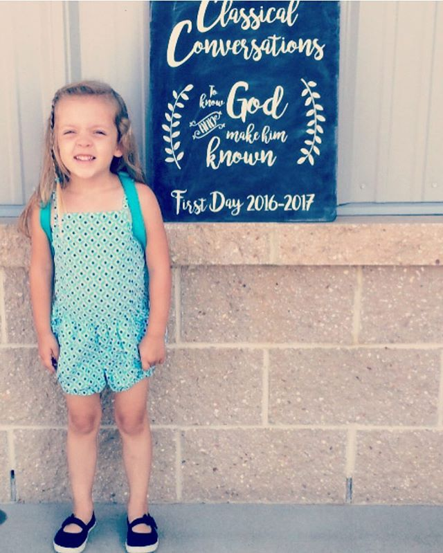 First day of pre-school  #latergram