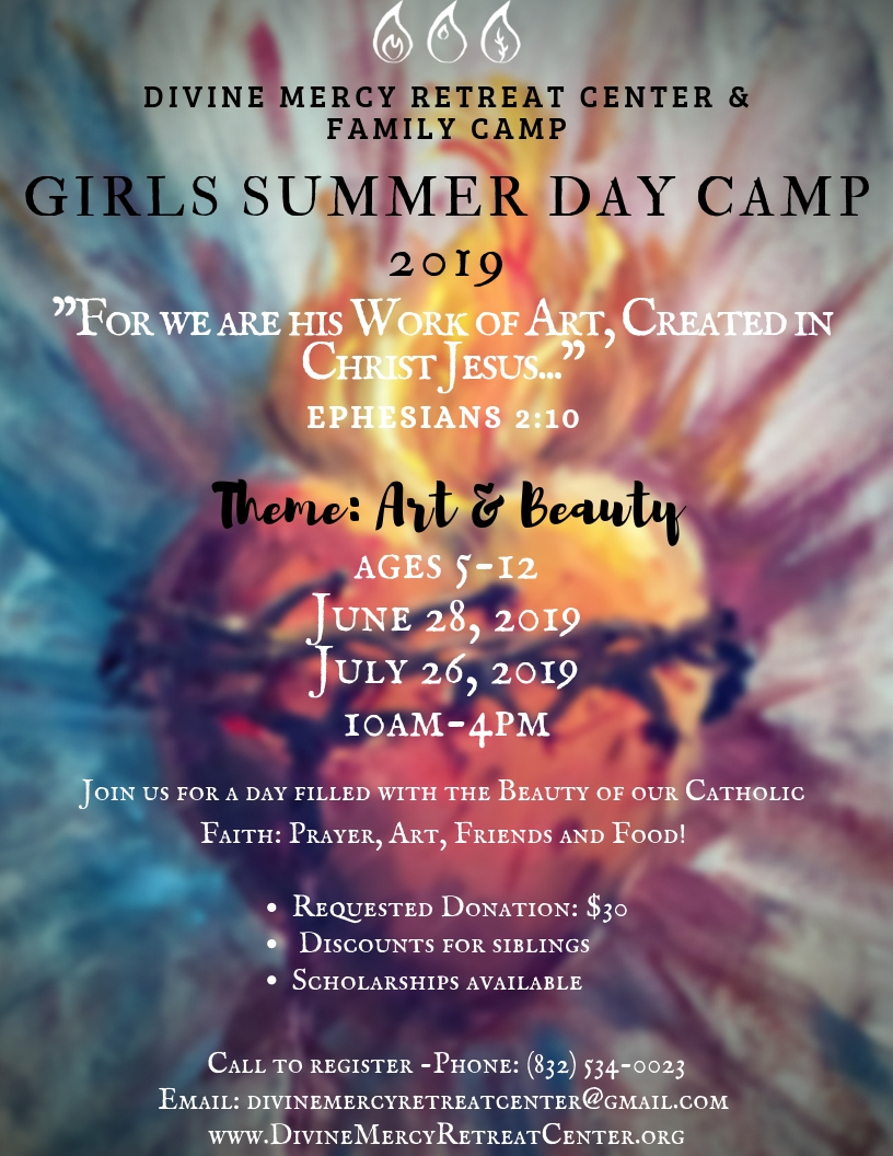 Girls Summer Day Camp 2019 at the Divine Mercy Retreat Center & Family Camp - flyer.jpg