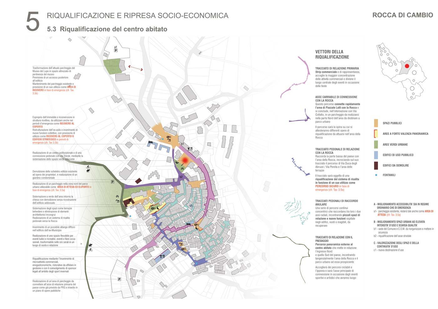 Rocca di Mezzo - Masterplan di uno dei quattro Comuni coinvolti dal Piano di Ricostruzione