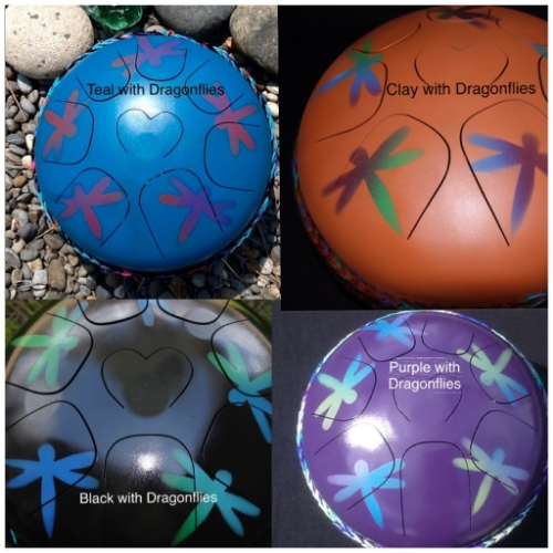 dragonfly paint designs steel tongue drum