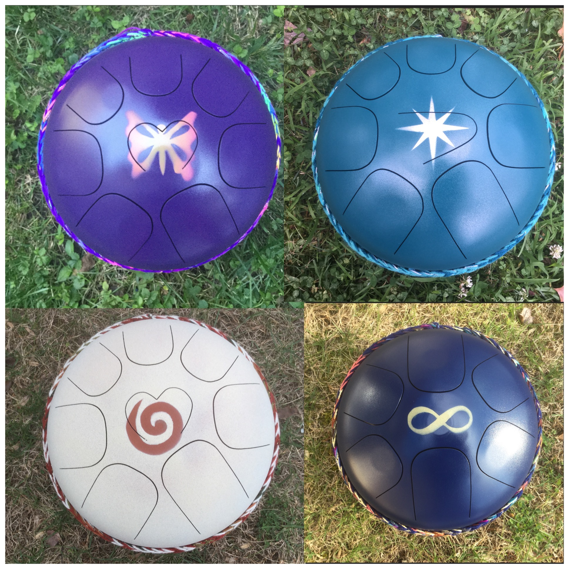 Steel tongue drums Angelic music symbols