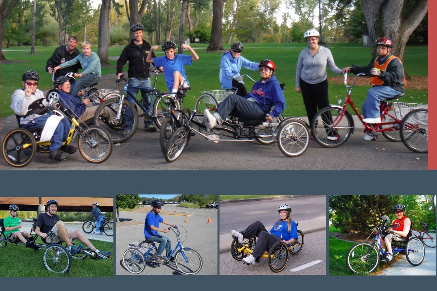 Adaptive Bike Fair - Saturday, May 18 from 10 AM - 2 PM at Fort Boise. Try out a variety of adaptive cycles! This is a great time to learn about adaptive cycles and discover what type works for you. All ages and ability levels are welcome. See the Facebook event for more information.
