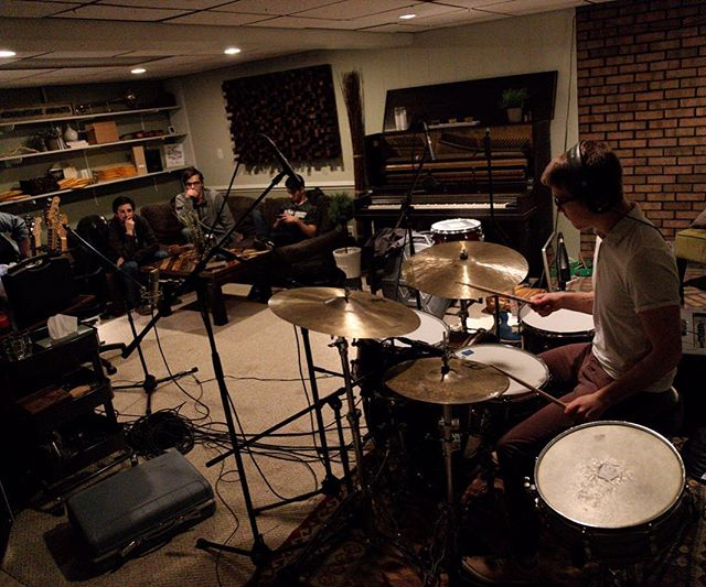 We have FIN (@finmusic) in the studio tonight. Laying down some drum tracks that are sounding tasty 🤙🏼
