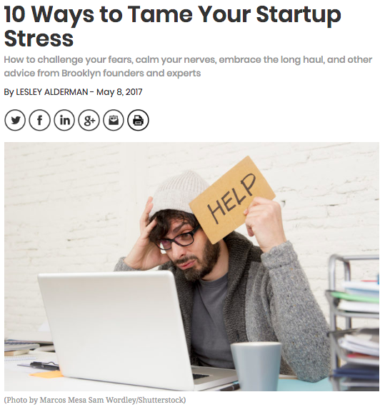 10 Ways to Tame Your Startup Stress