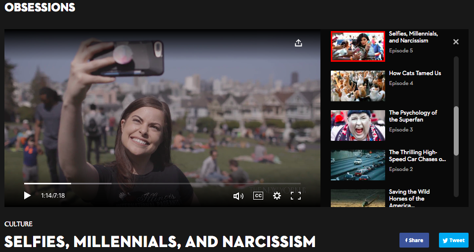 New Yorker Video - Selfies, Millennials, and Narcissism