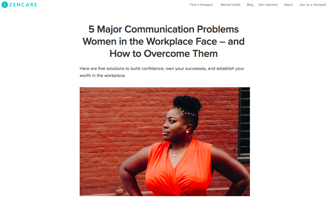 5 Major Communication Problems Women in the Workplace Face – and How to Overcome Them - Julia Baum Therapy
