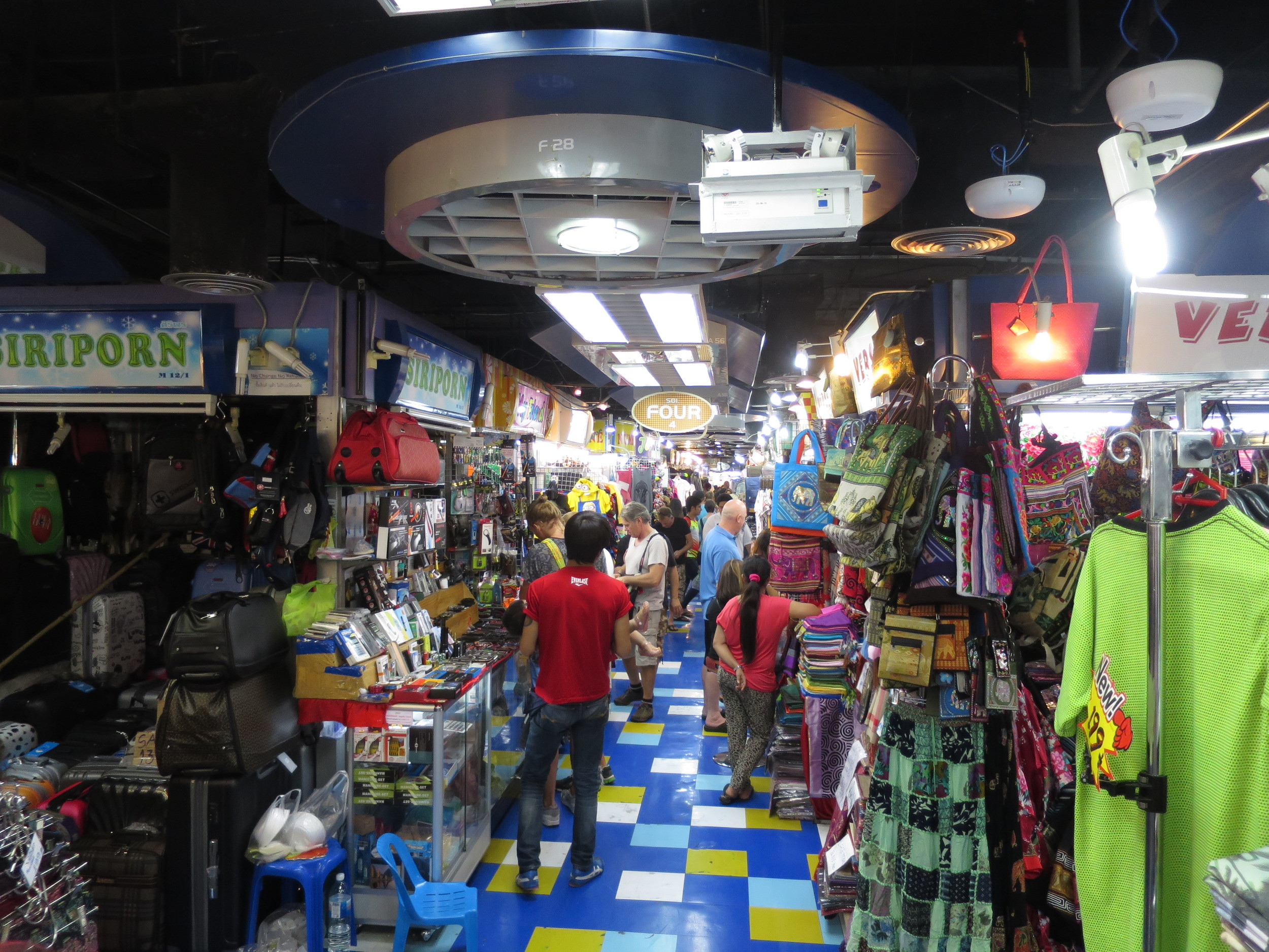 The clothing floor inside MBK