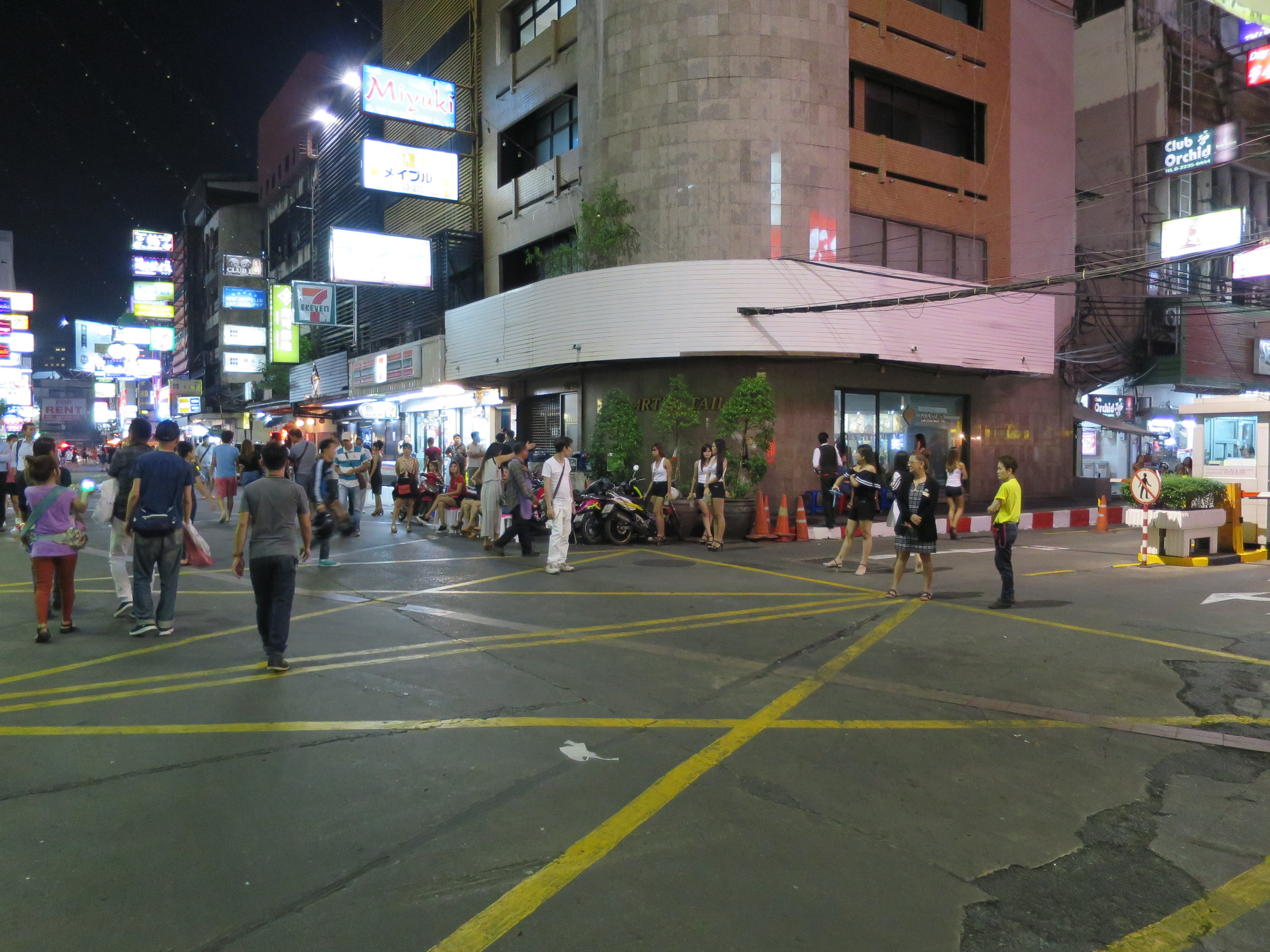 Bargirls  outside of their place of business in Patpong