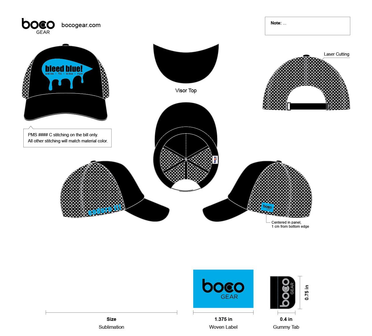 Boco Trucker hat_Endure it_Bleed Bue-01.jpg