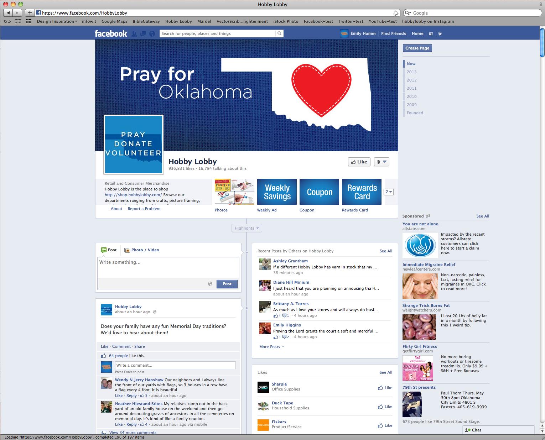 Pray for Oklahoma FB Cover Image