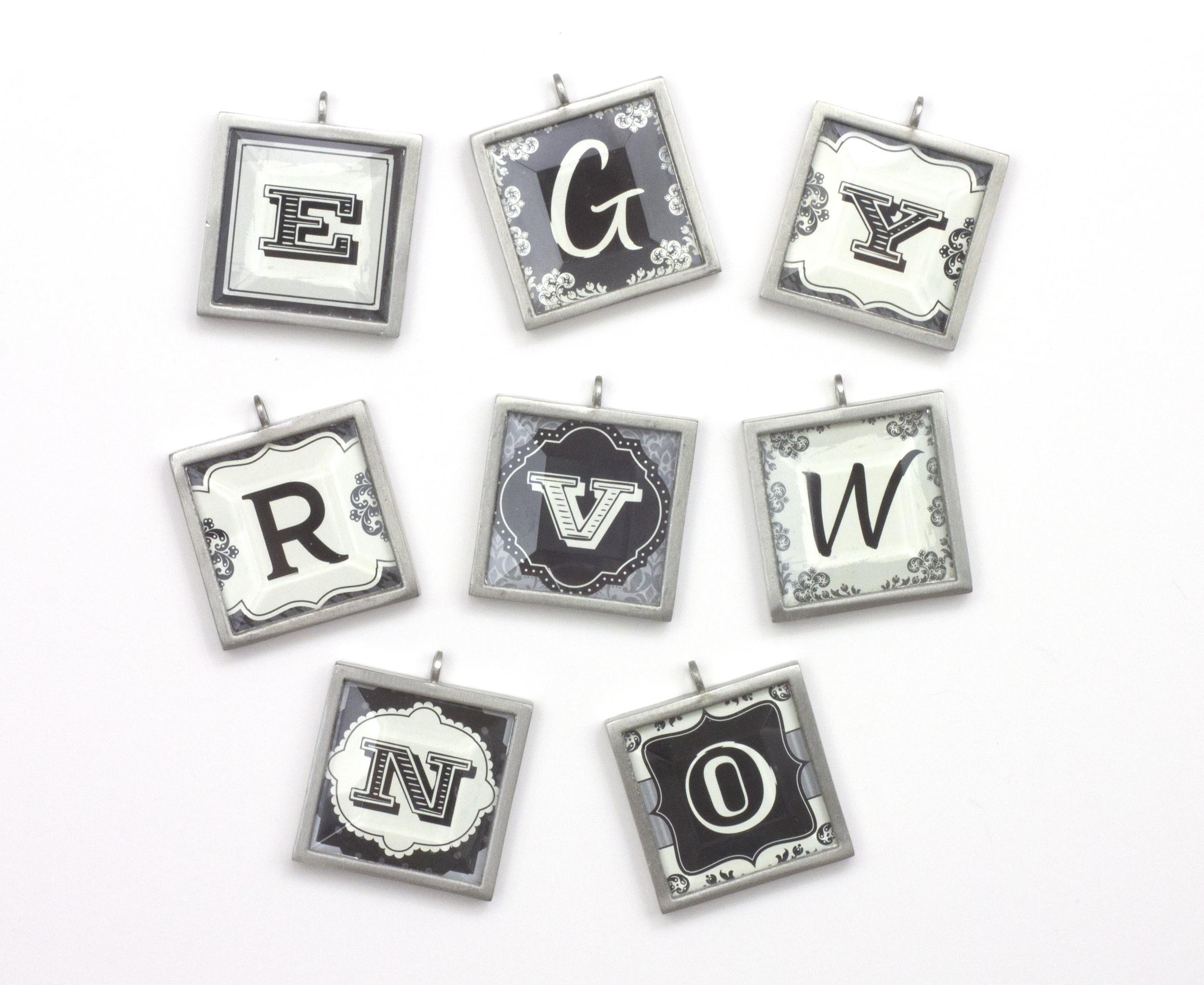 Monogram Jewelry Pendants