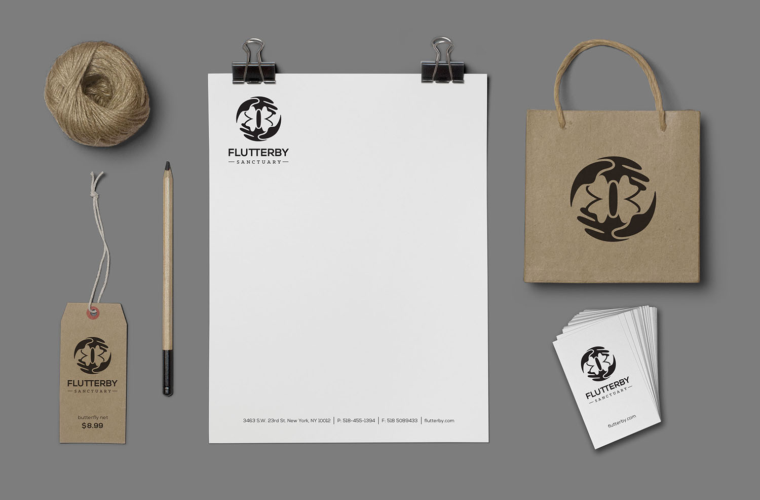 Fluttery Sanctuary Corporate Identity