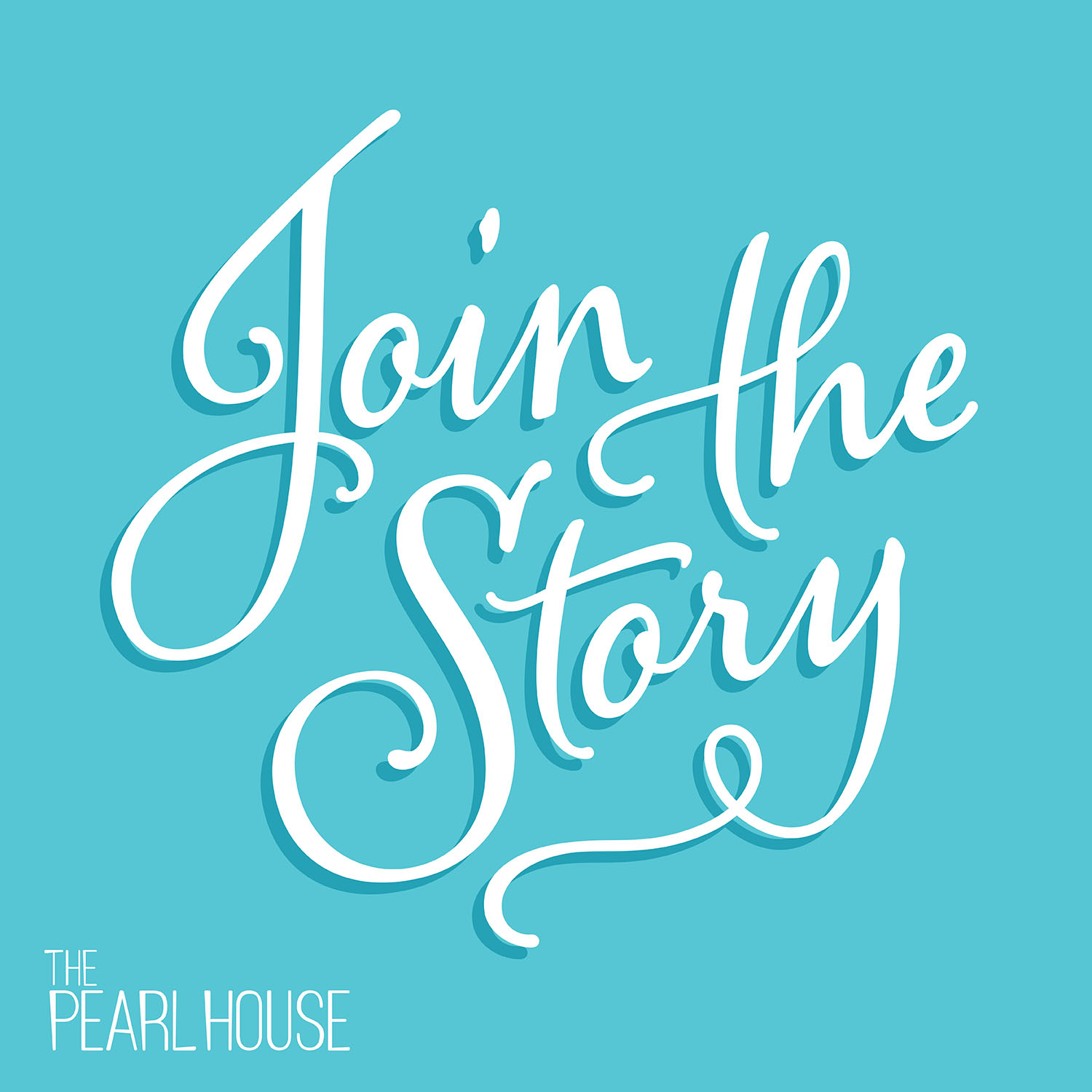 A type graphic designed for a promotional event for The Pearl House.