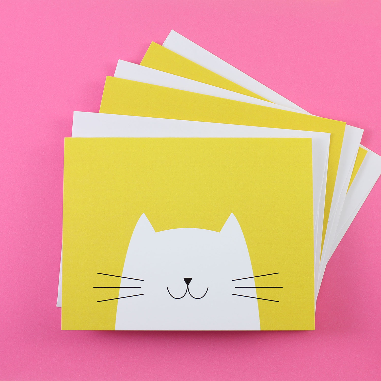 Mod Cat Notecards
