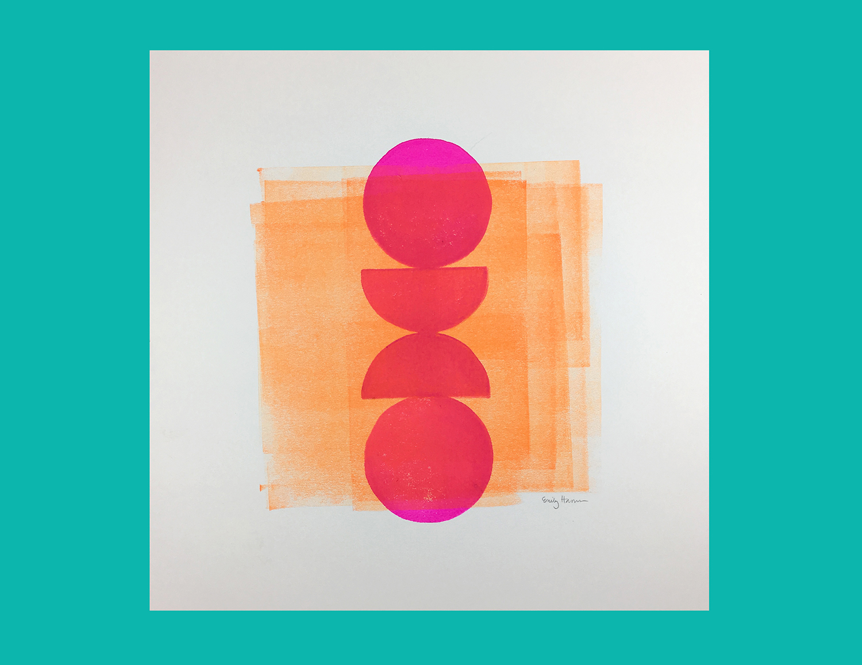 Geometric Block Print