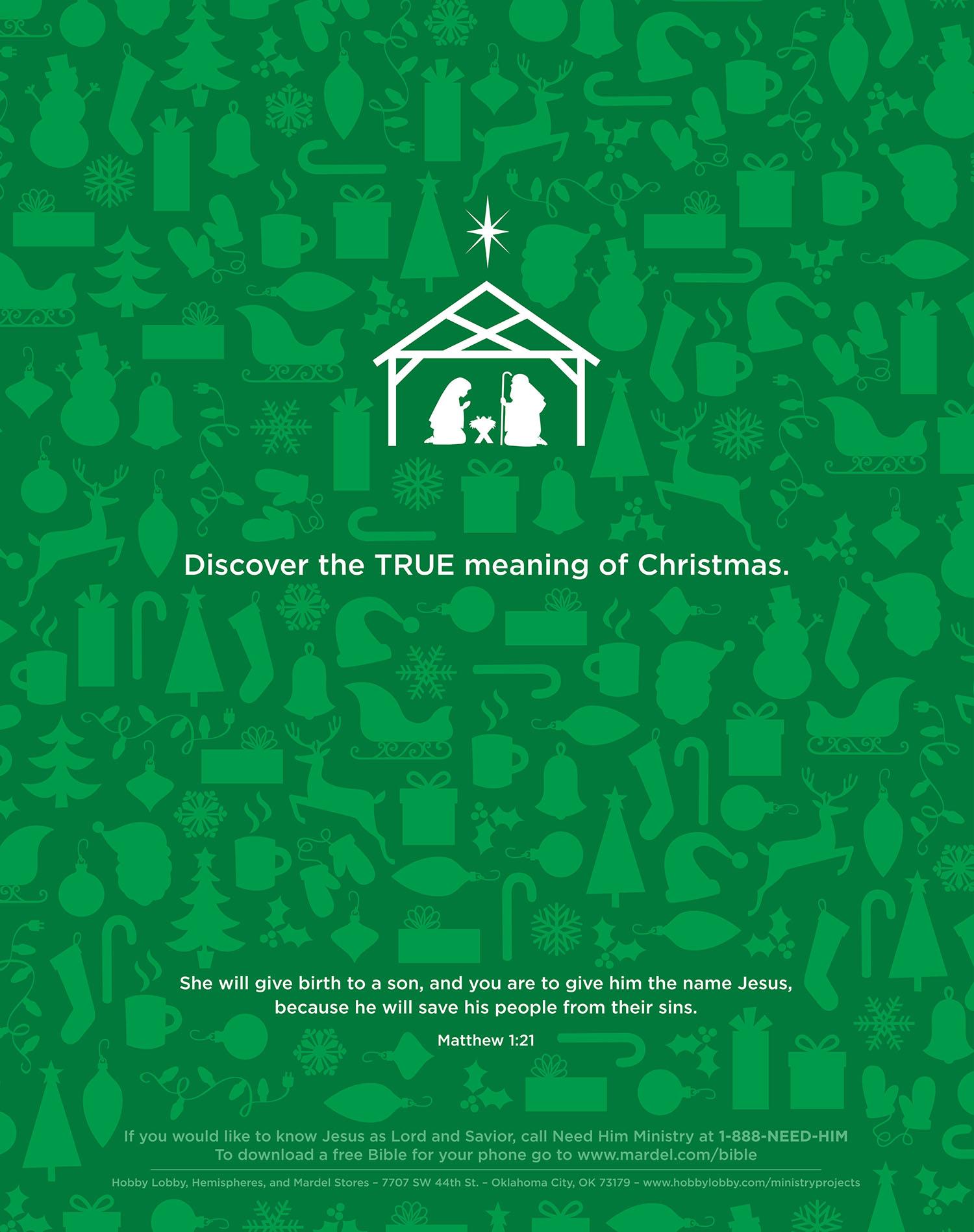 Christmas Message Ad
