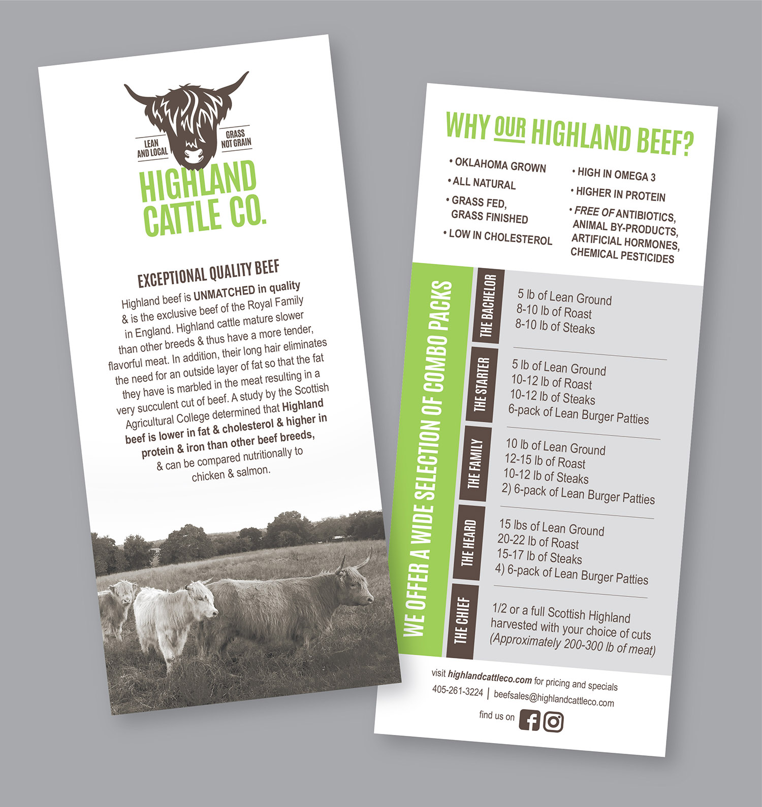 Promotional Flyer for Highland Cattle Co.