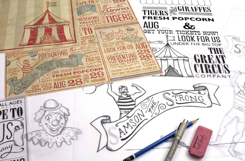 Vintage Circus Art