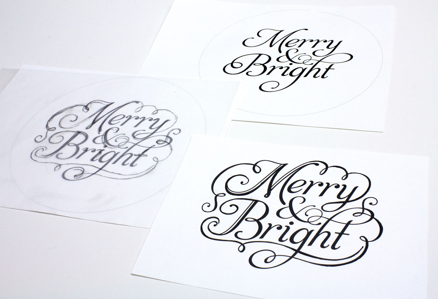 Christmas Type Illustration