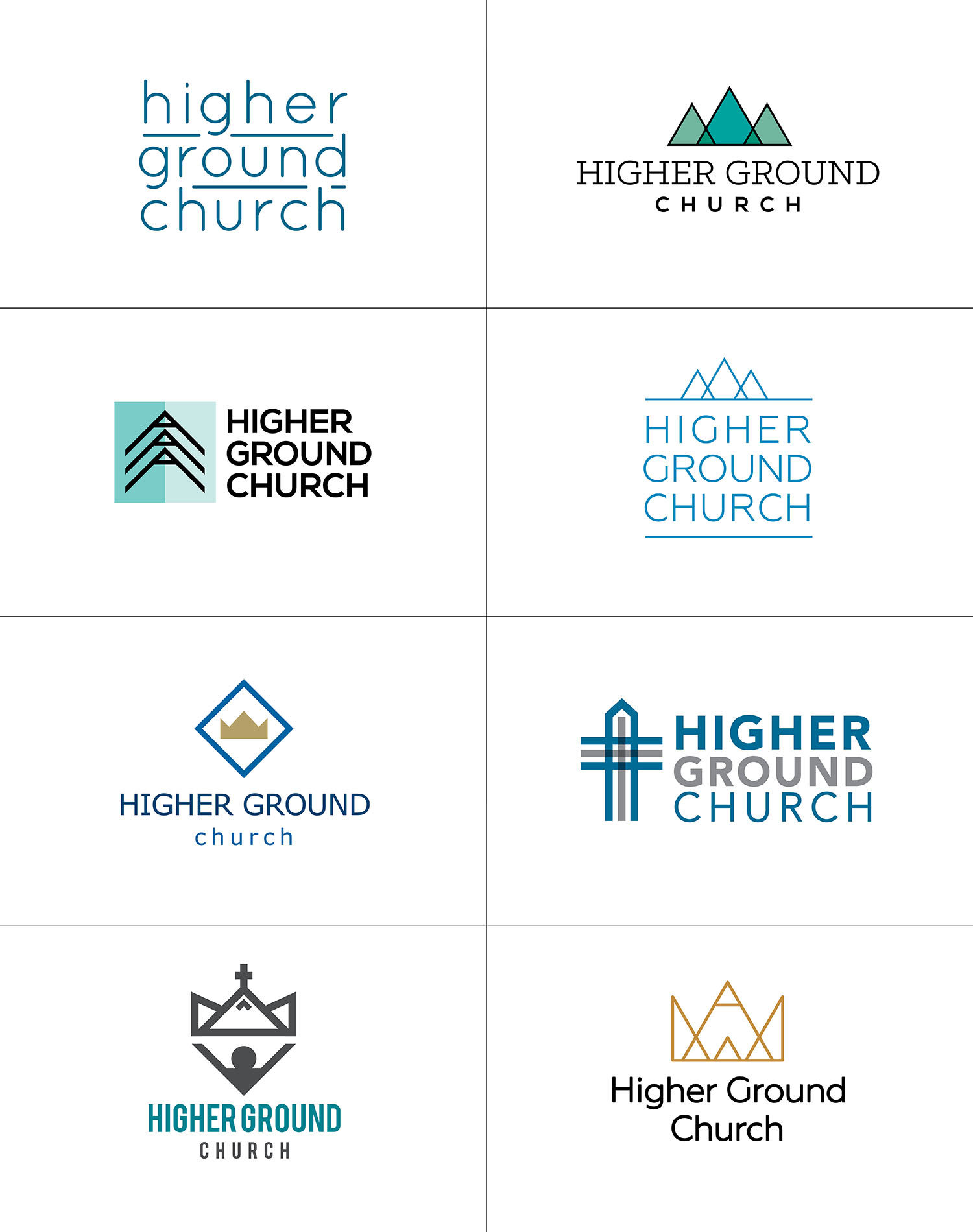 Higher Ground Church Logo Options