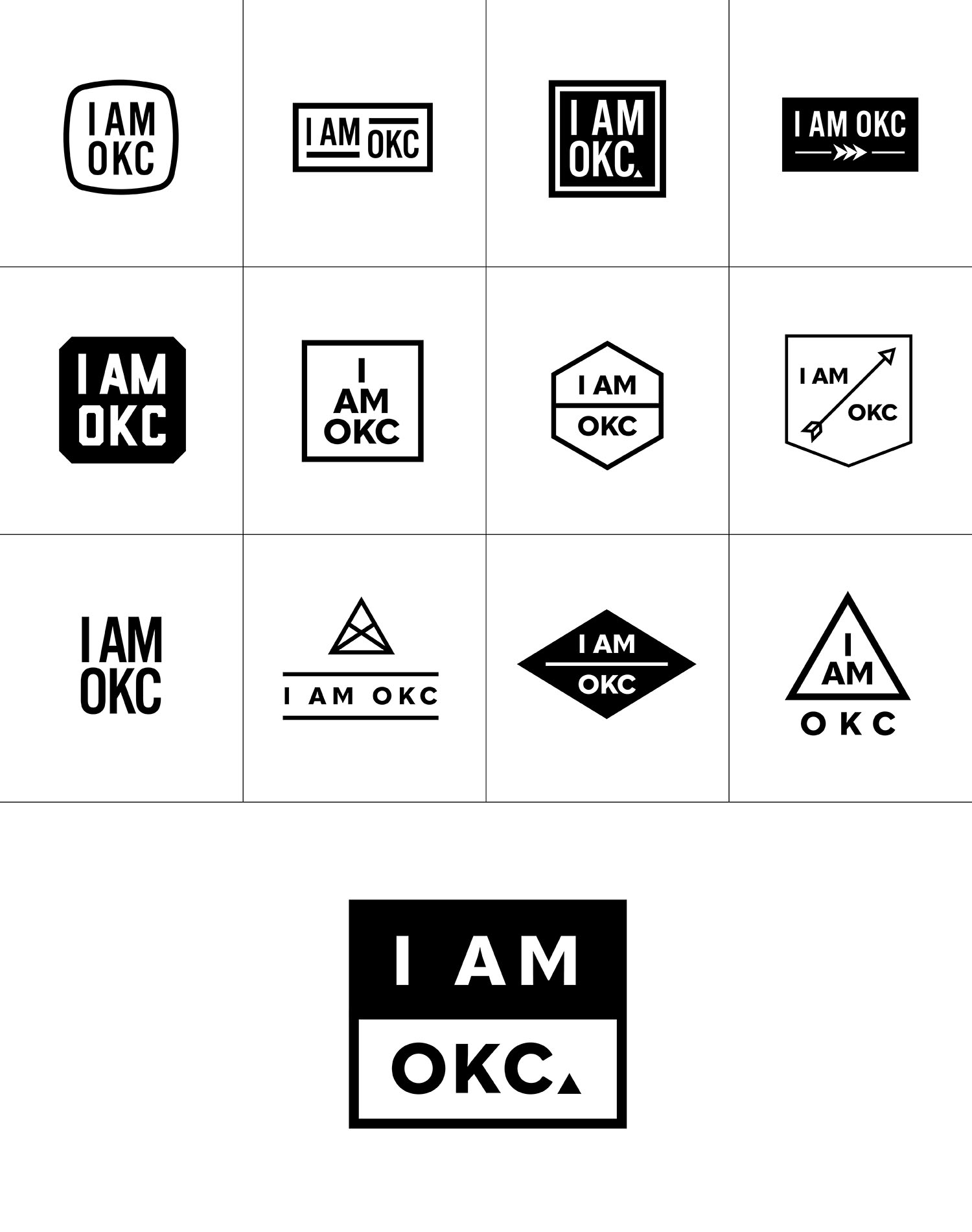 I Am Okc Logo Options