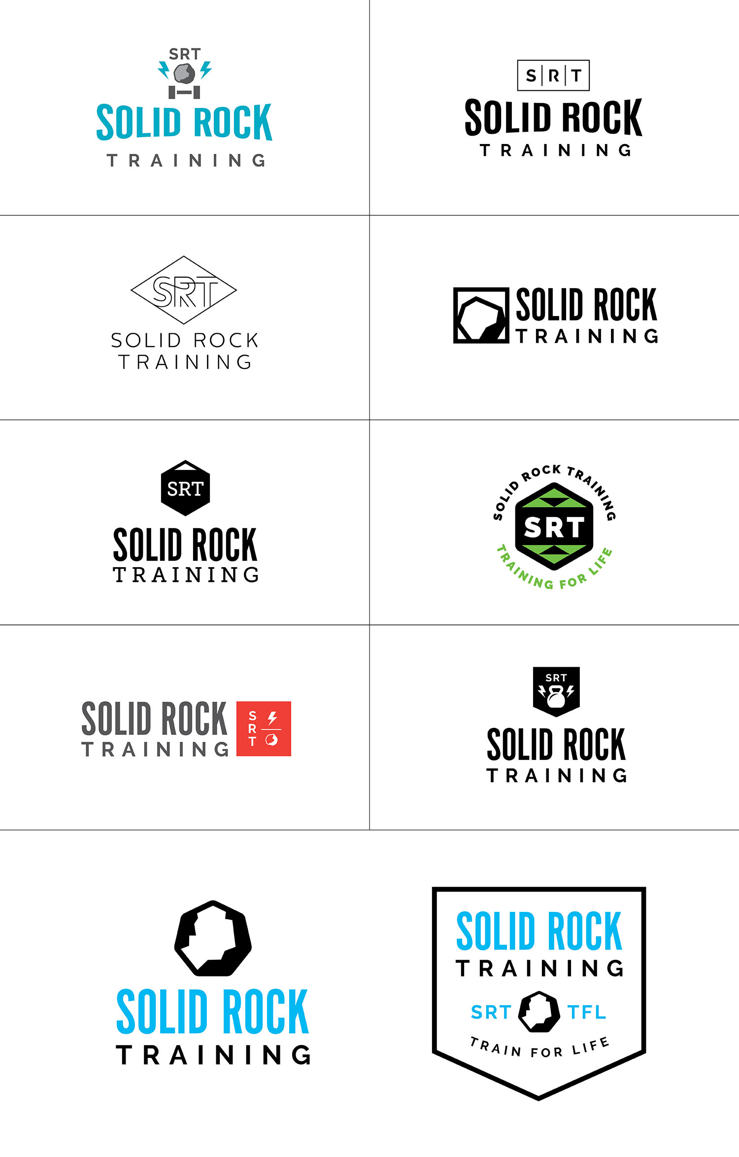 Solid Rock Training Logo Options