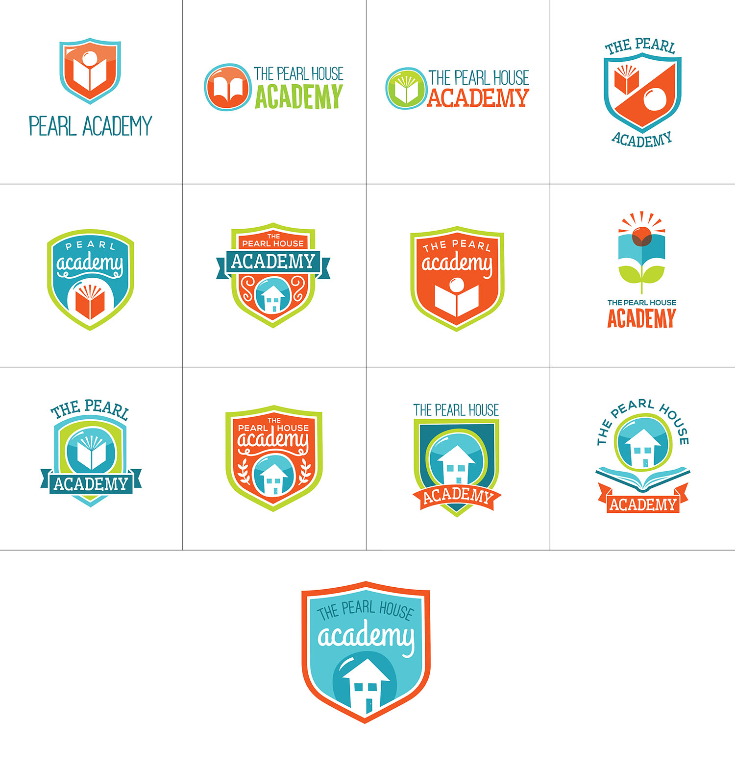 The Pearl House Academy Logo Options