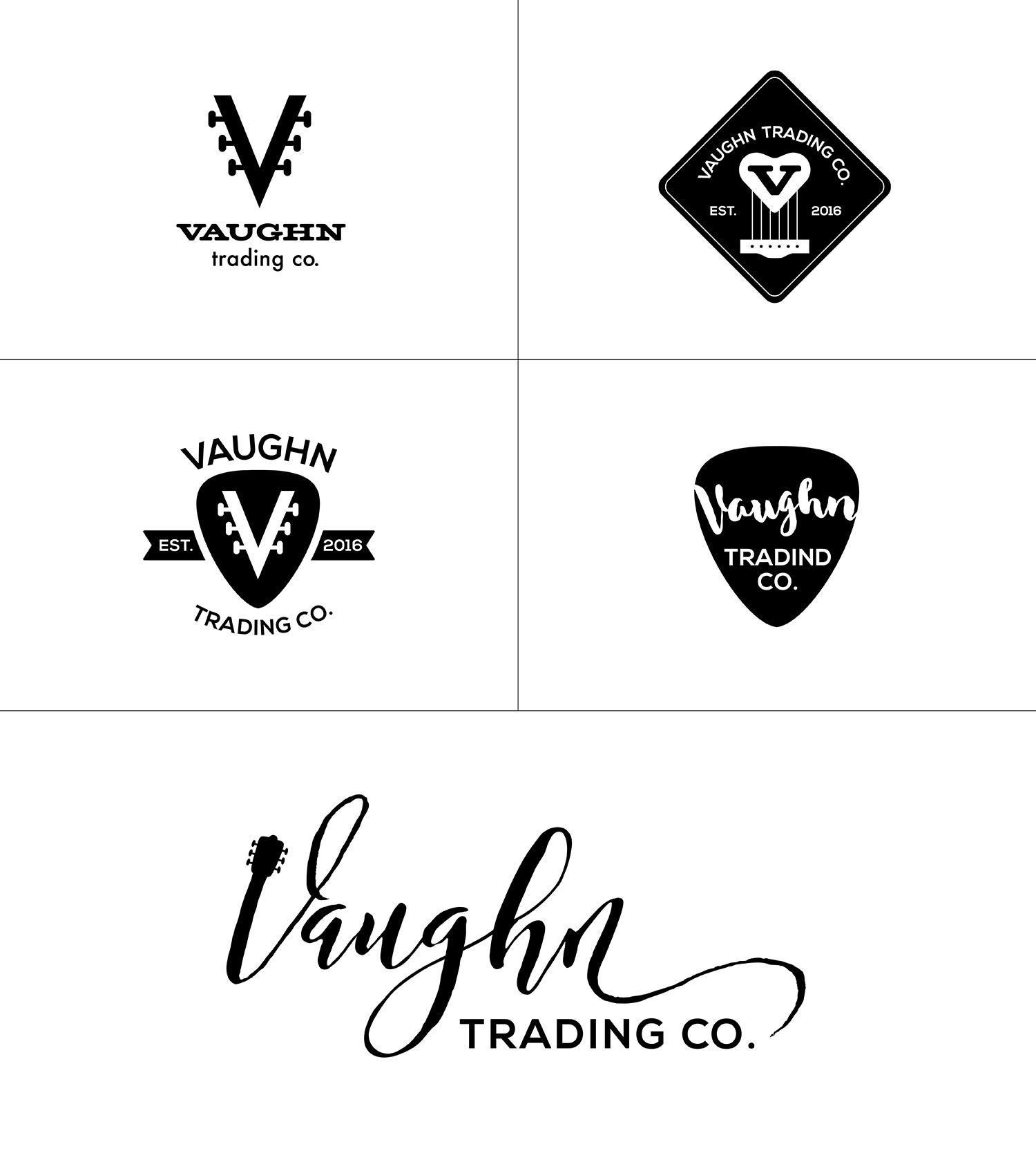 Vaughn Trading Co. Logo Options