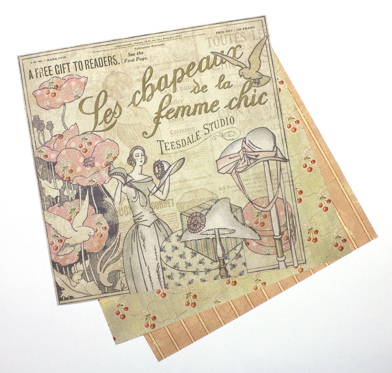 Vintage Vogue Scrapbook Paper