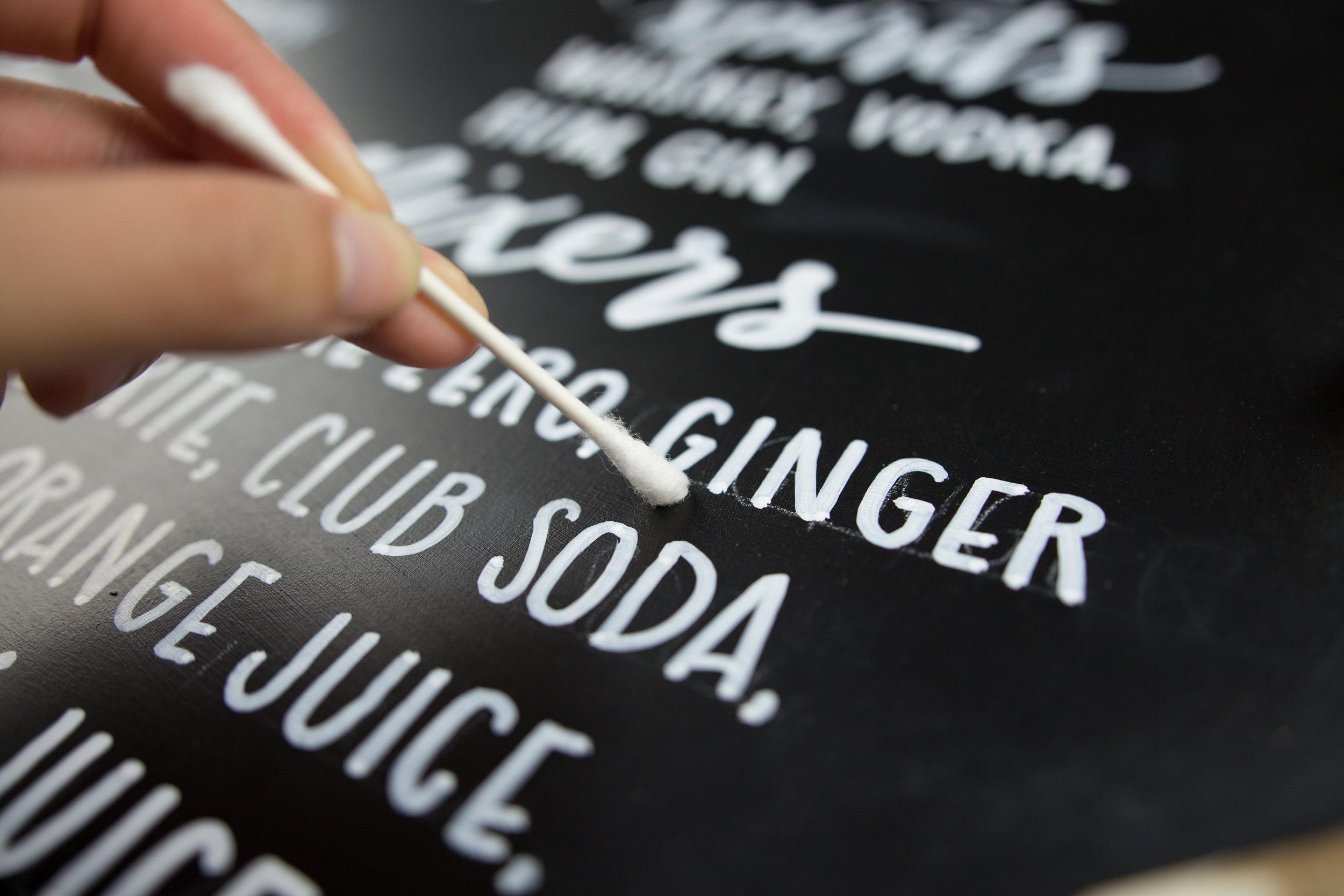 diy fall wedding chalkboard bar menu