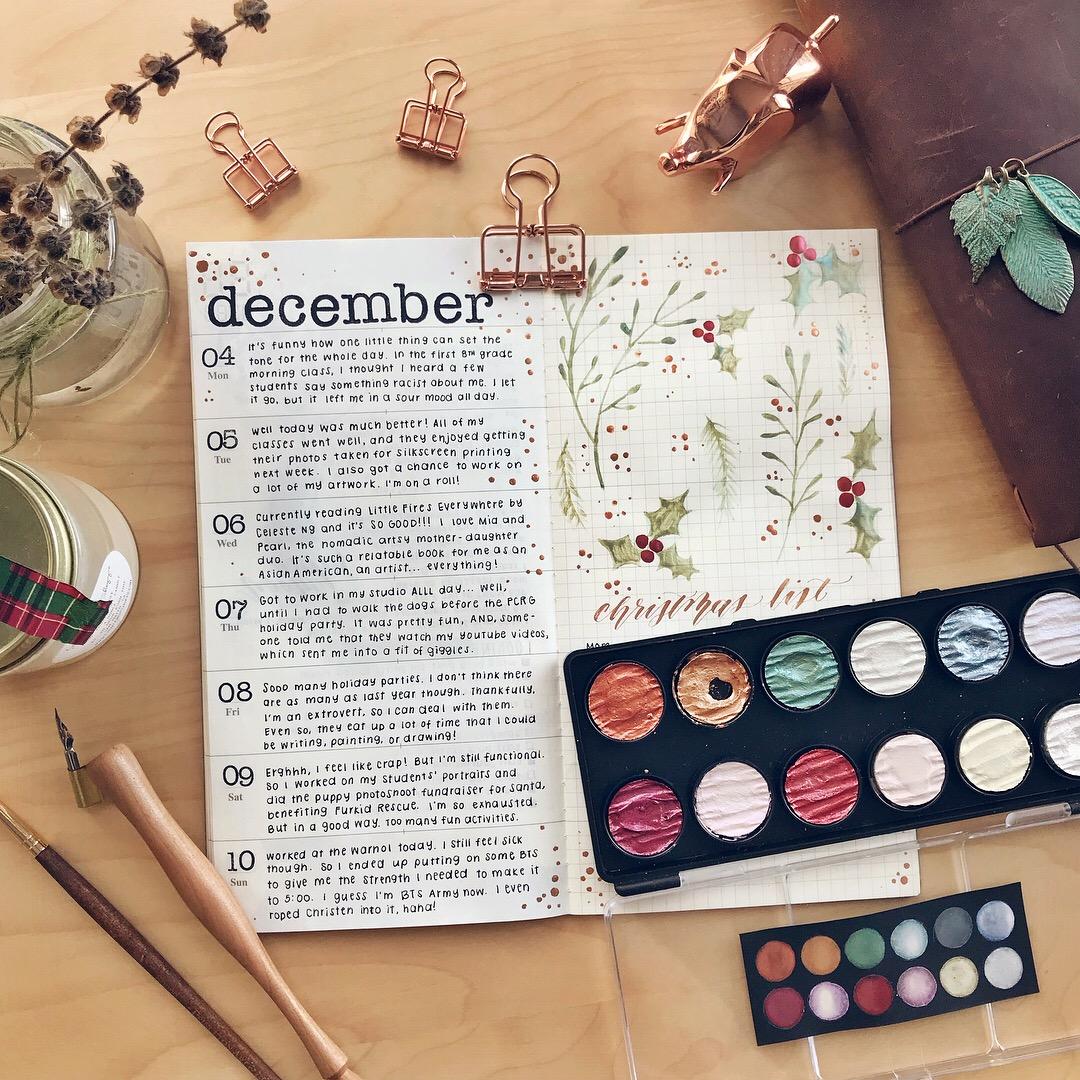 december weekly spread