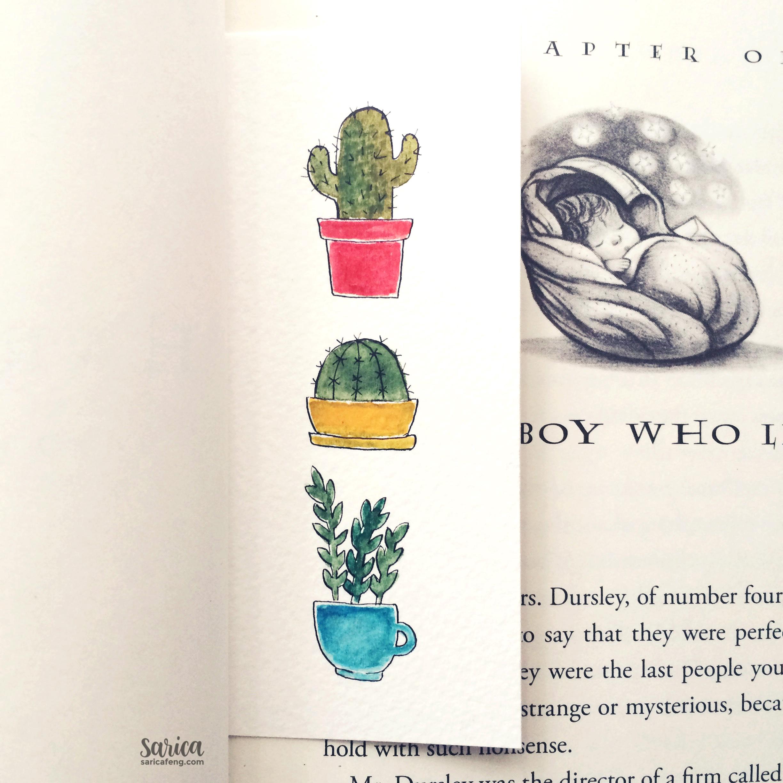 cute cacti bookmark