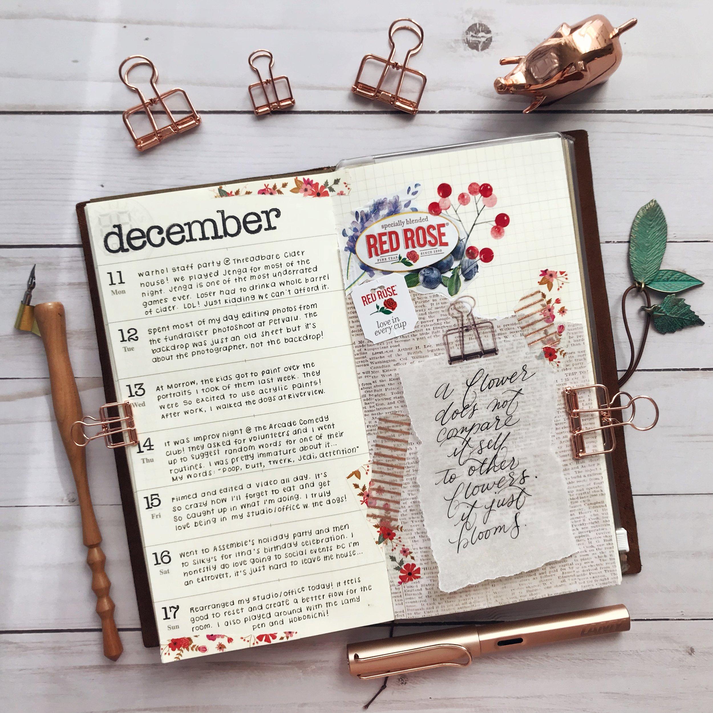 travelers notebook week 50
