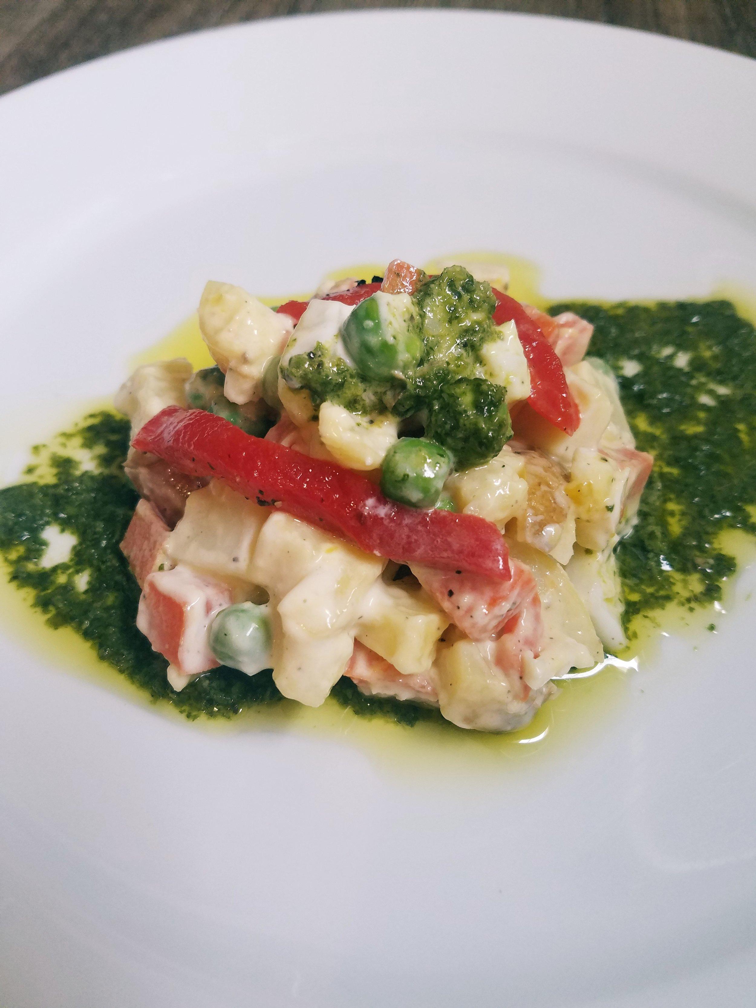Spanish Potato and Tuna Salad
