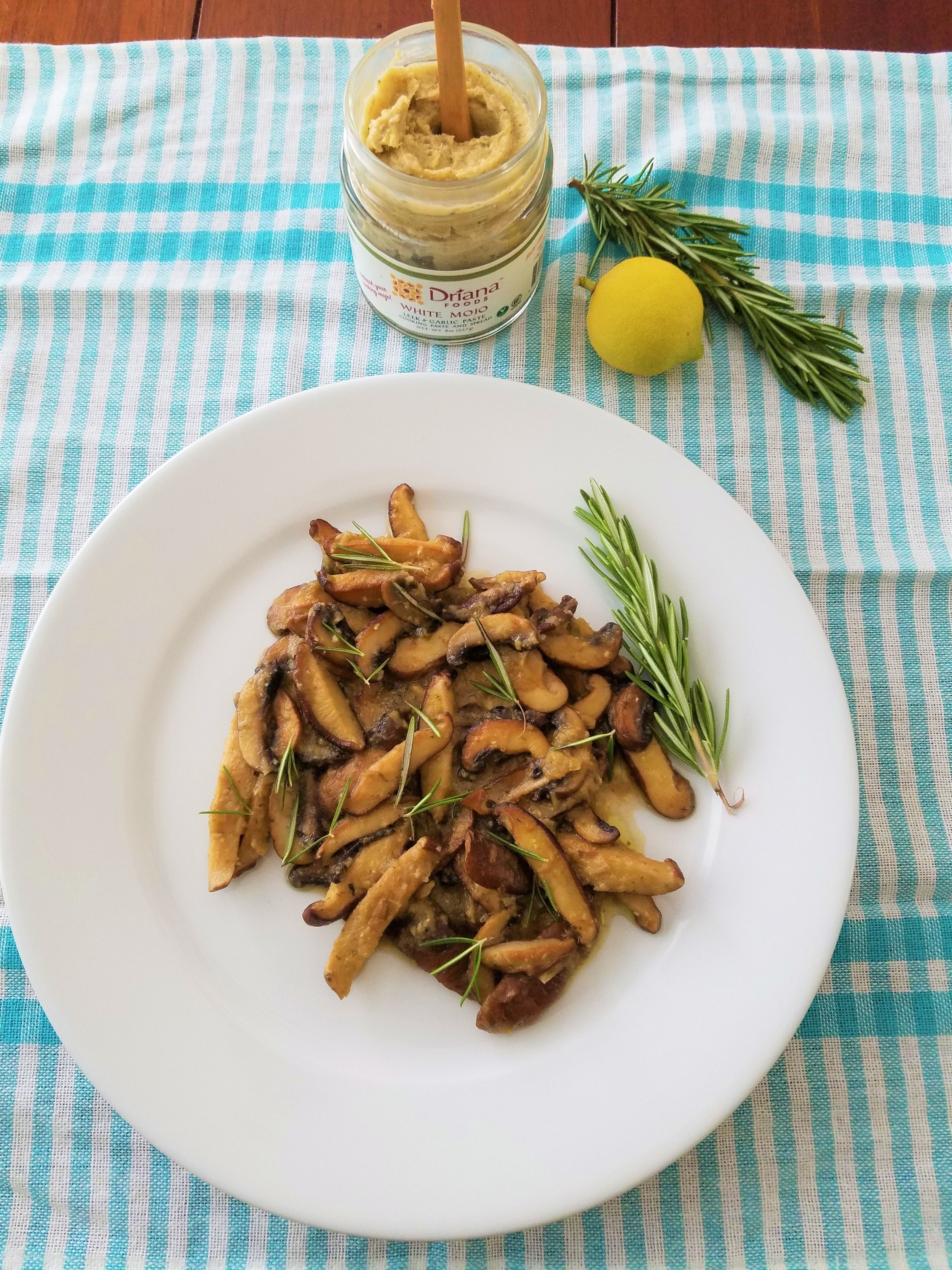 Sauteed Mushrooms with Rosemary Lemon Sauce