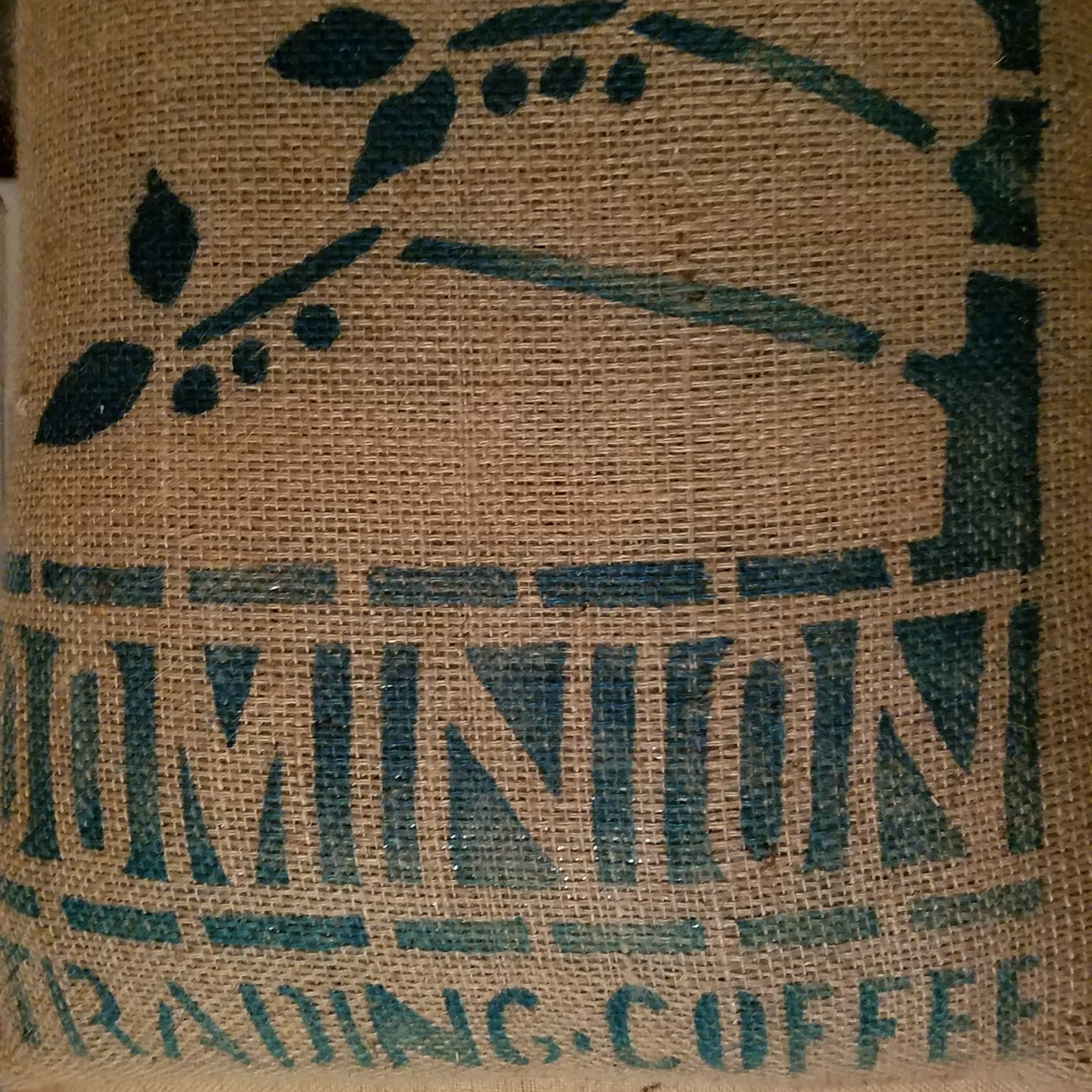 Burlap bag from Dominion Trading, LLC