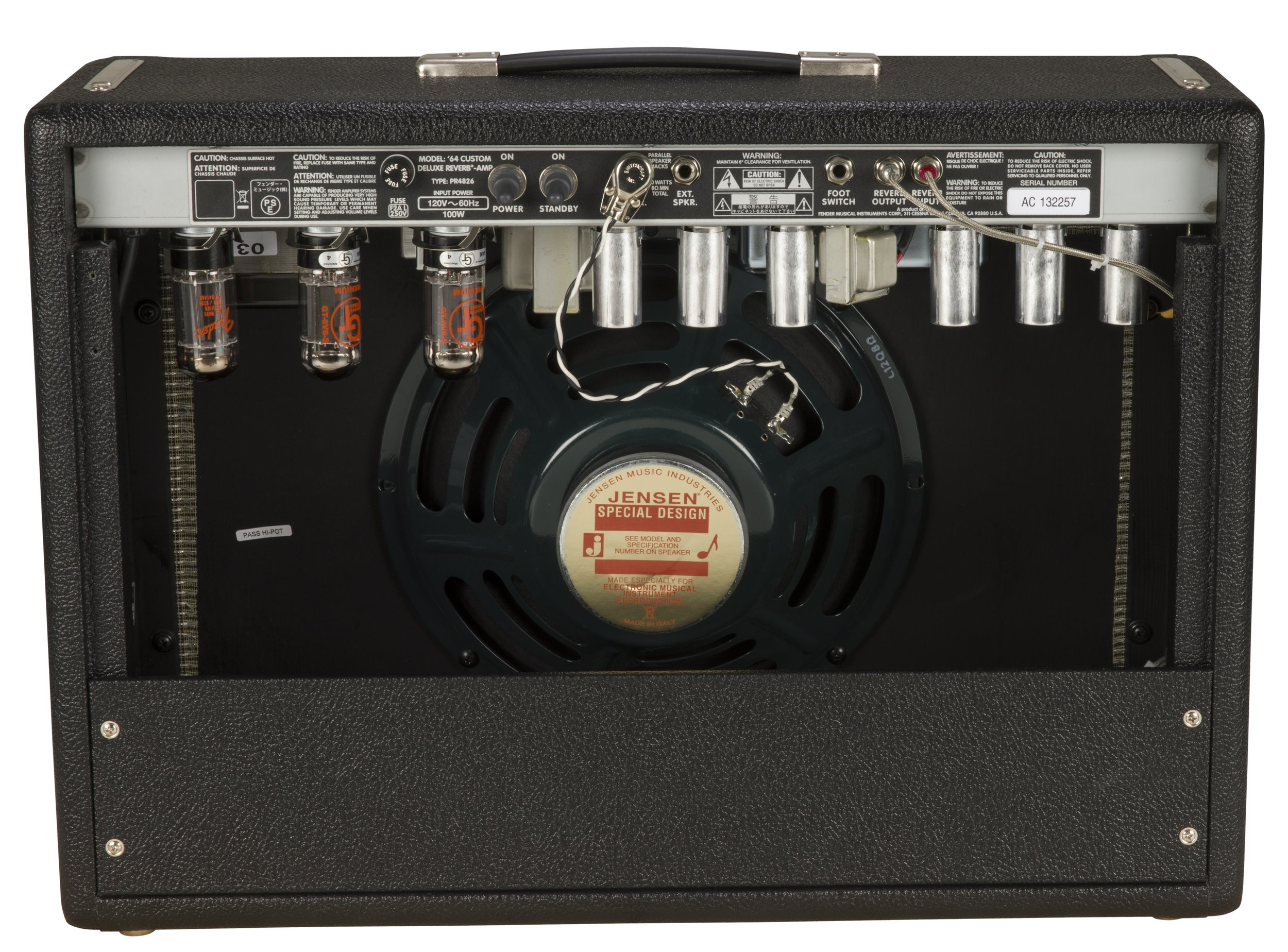Behind the scenes view of a Fender Deluxe Reverb