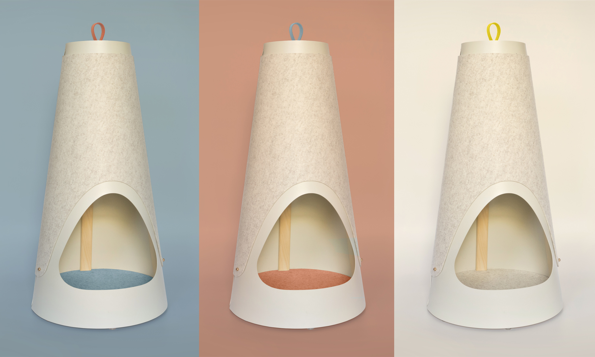 COLORS - The Cone's subtle color scheme comes in three varieties and is meant to fit in any modern home. Every option comes with carry loops in two colors, giving you a choice of a matching or contrasting look.