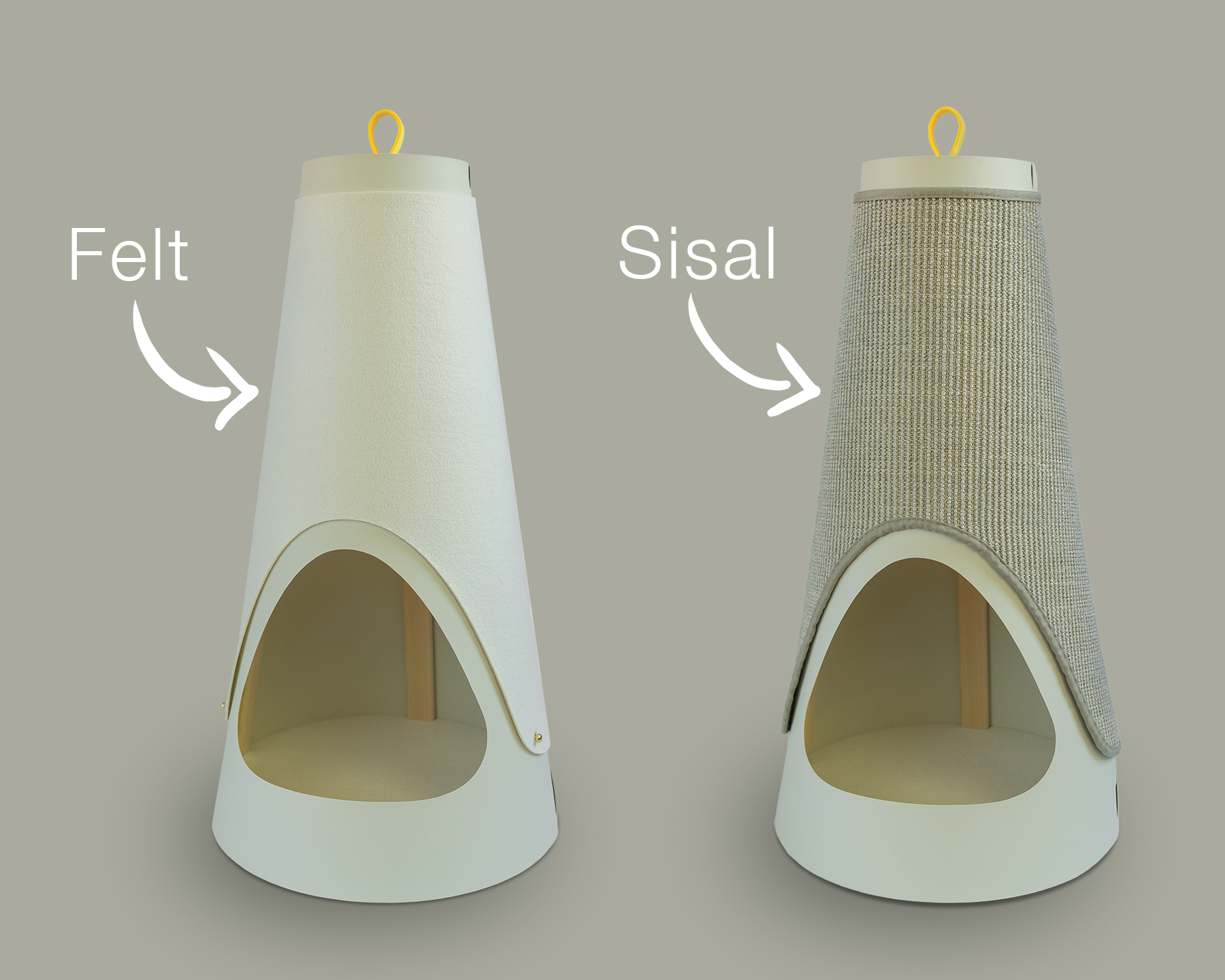 REPLACEABLE WRAP - The Cone is designed to be long-lasting, not another product that will quickly end up in a landfill. When the wrap becomes worn, it can be easily replaced. Our felt wrap is also reversible, and we estimate one will last a single kitty about 6 months (3 months per side). Our premium sisal wrap is super durable and can last a single cat up to five years!