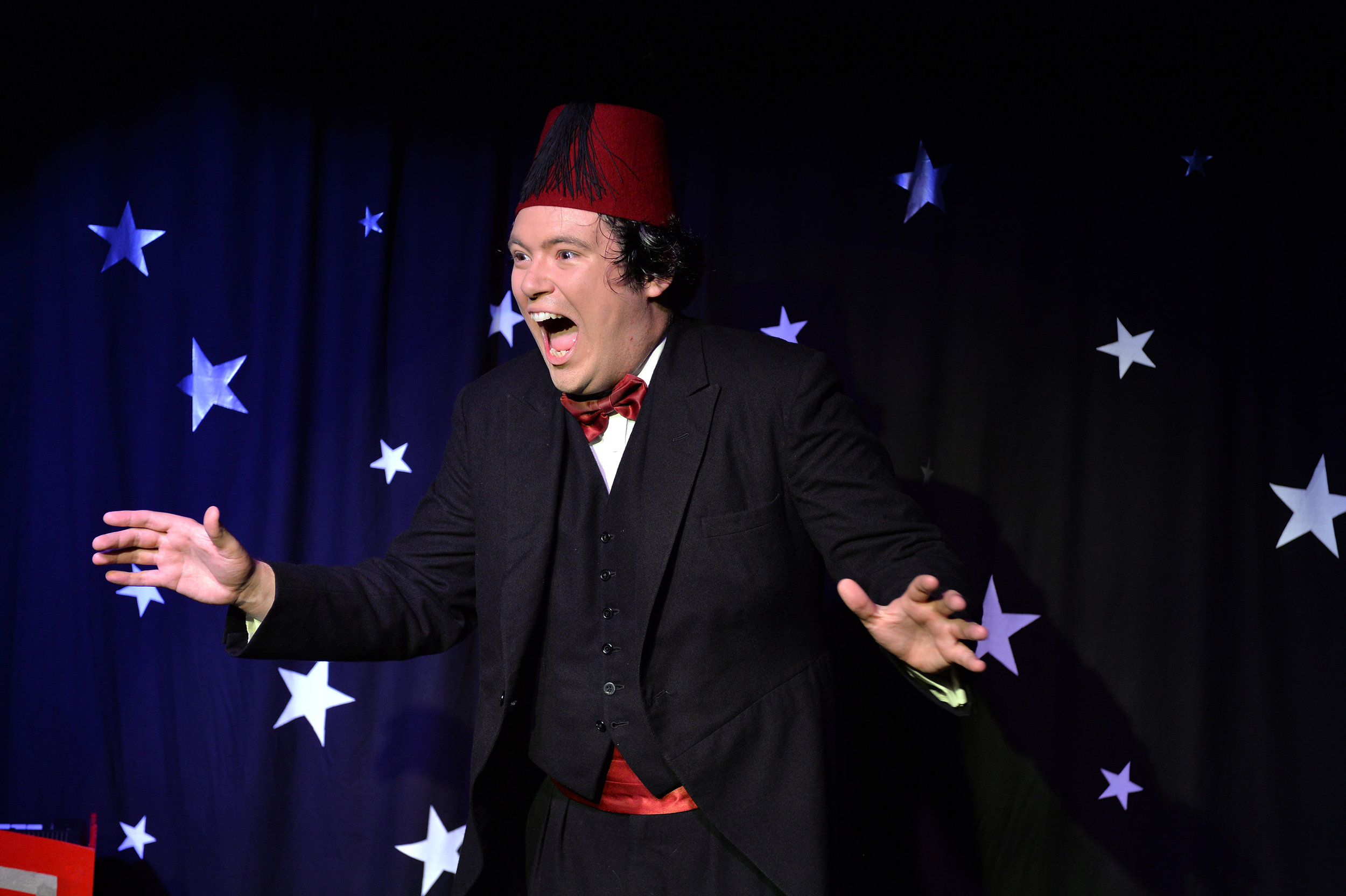 John Hewer as Tommy Cooper Photo: Steve Ullathorne