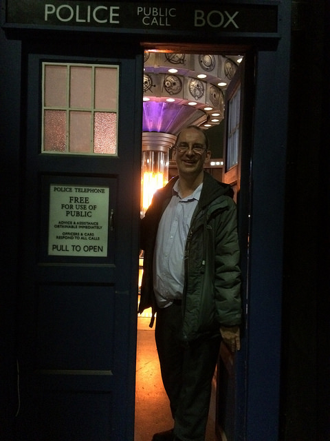 Andy Howells visits the TARDIS set at BBC Roath Lock studios