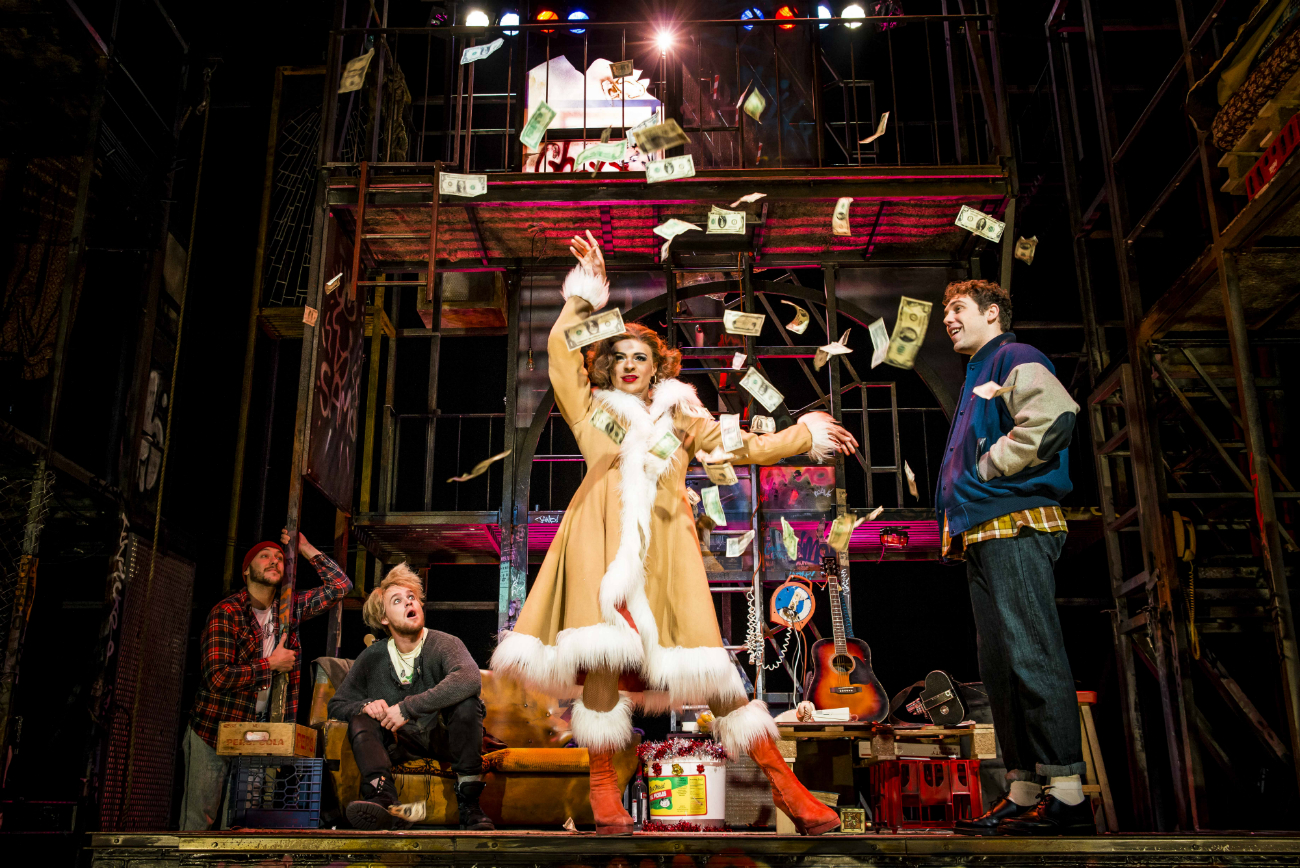 Layton Williams as Angel in Rent Picture: Matt Crockett