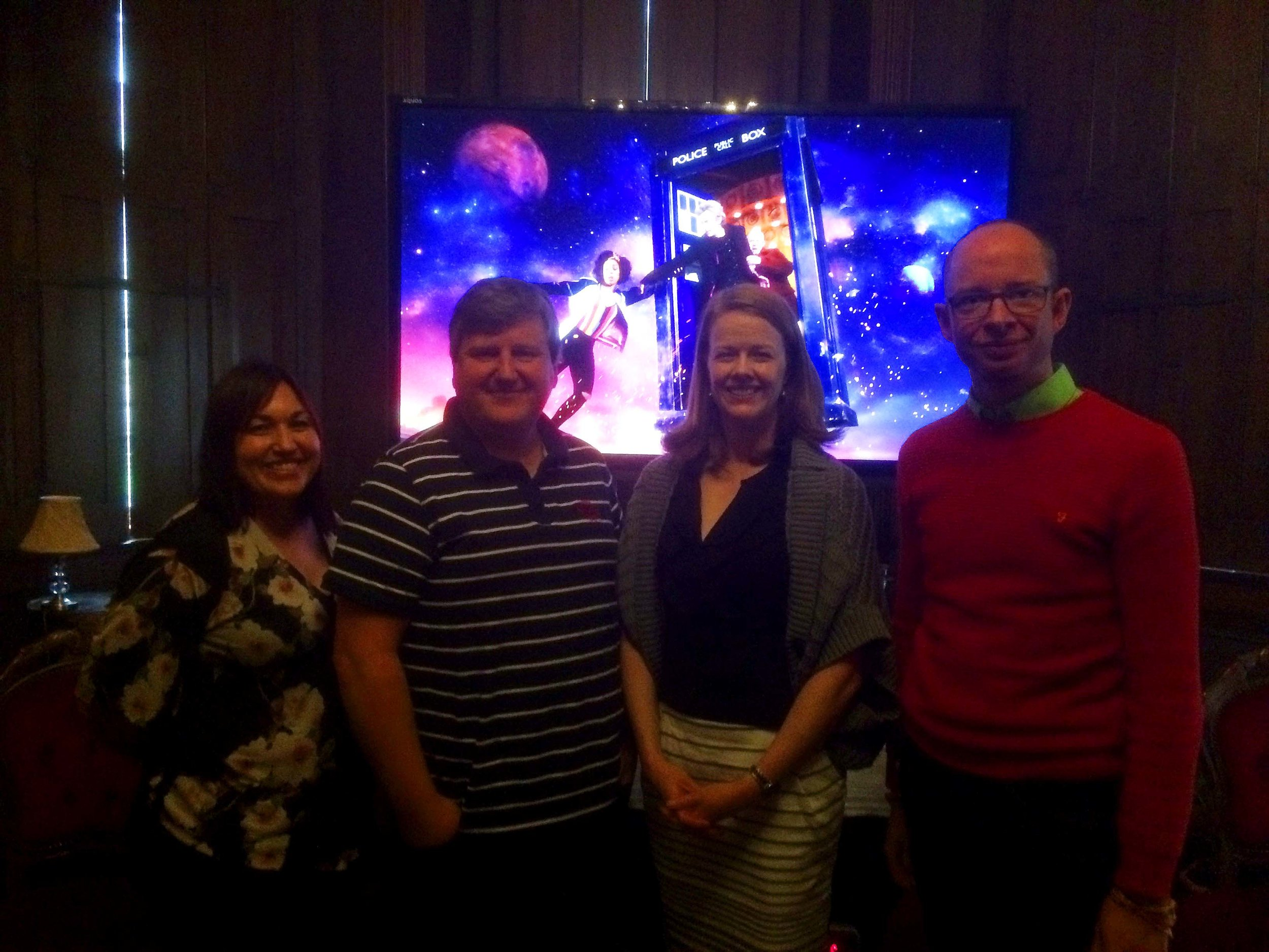 Part of the team who helped create the first binaural episode of Doctor Who. Sound Supervisor Cathy Robinson, Sound Mixer Darran Clement, Producer Nikki Wilson and Frank Melchior Head of Audio Research. Picture: Andy Howells