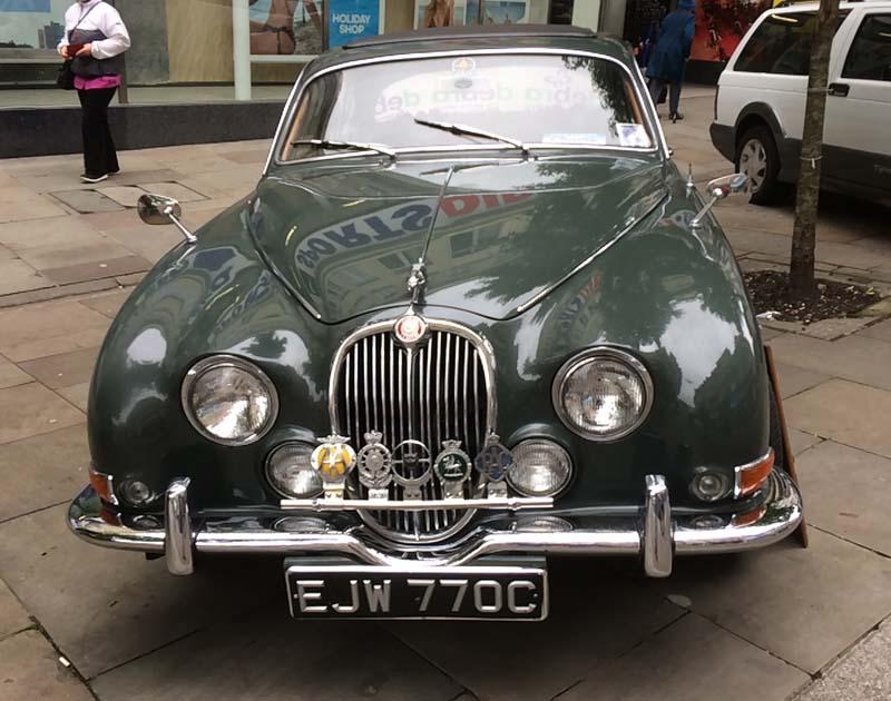 A classic Jaguar on display at Newport Festival of Classics