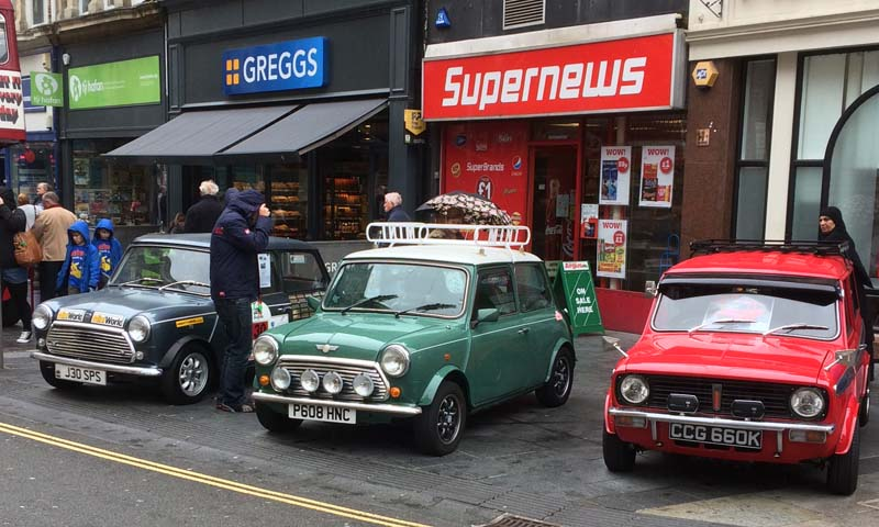 Several classic Mini's were on display at Newport Festival of Classics