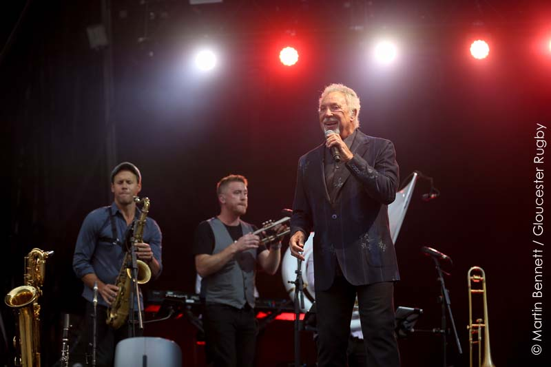 Sir Tom Jones Performed A Tribute To Prince At His Kingsholm Stadium Show