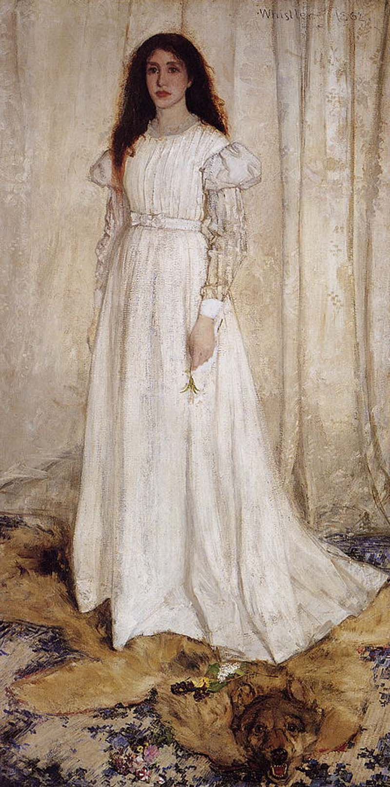 James Whistler's Symphony in White no 1 (The Whiteweb Girl) 1862, National Gallery of Art Washington