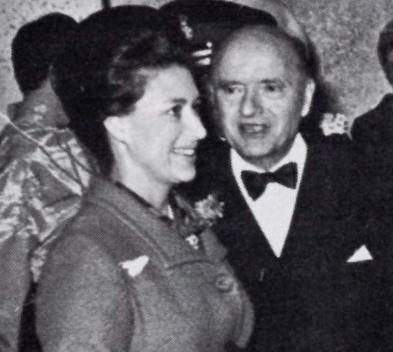 Arthur Dolman pictured with HRH Princess Margaret in 1968 Photo: Dolman Theatre Archive