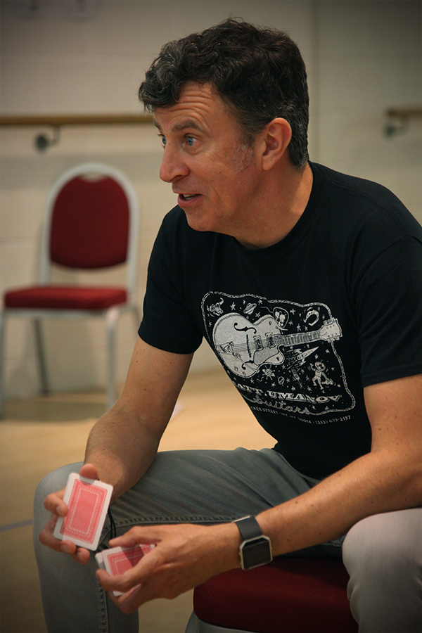Rehearsals for One Flew Over The Cuckoo's Nest at Milford Haven's Torch Theatre